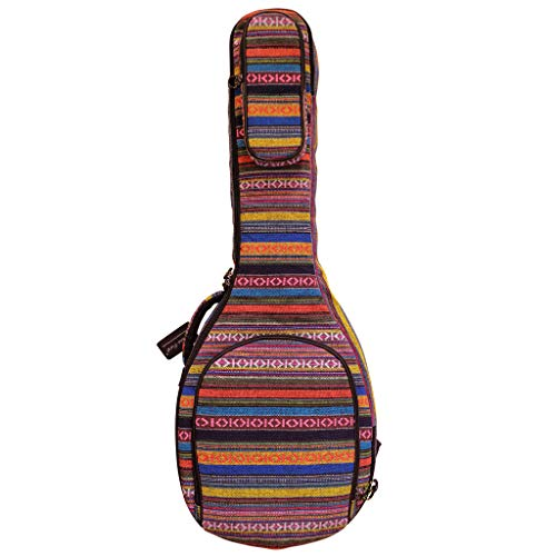 "MUSIC FIRST Original Design 0.65"" (16mm) Thick Padded Country Style 5-string Banjo Case, Banjo Gig Bag (Fit for Overall Length 38 inch / 96~97cm Full Size Banjo). NEW ARRIVAL!"