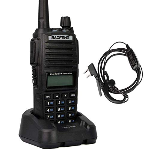 Mengshen Walkie Talkie UV-82 Funkgeräte Handfunkgerät High-Powered Bigger Battery Than Others Dual-Band 136-174/400-520 MHz FM Ham Radio Long Range + Dual PTT Headset, Transceiver UV-82
