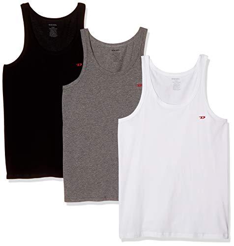 Diesel UMTK-JOHNNYTHREEPACK, Camiseta sin Mangas para Hombre, Pack de 3
