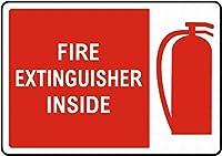 消火器の中 メタルポスタレトロなポスタ安全標識壁パネル ティンサイン注意看板壁掛けプレート警告サイン絵図ショップ食料品ショッピングモールパーキングバークラブカフェレストラントイレ公共の場ギフト