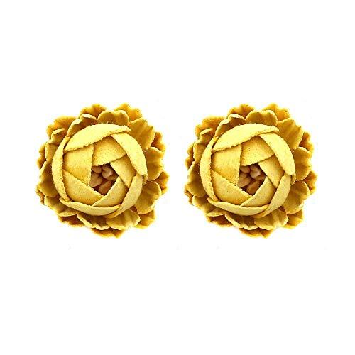 Women Earring Studs Earring Drop Earrings Ear Line,Korean Version of Handmade Flower Earrings Yellow, Personality Wild Flower Fabric Earrings Street Beat Flower Bracelets Earrings Rings Necklaces