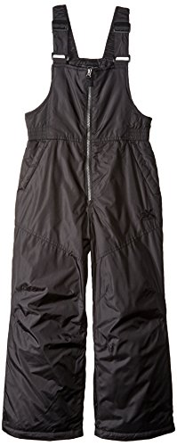 ZeroXposur Boys Snow Pants, Skiing and Snowboarding Water Resistant Boys Snow Bibs Overall, Black, Medium