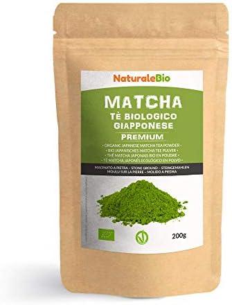 Japanese Organic Matcha Green Tea Powder [ Premium Grade ] 100g. Tea Produced in Japan, Uji, Kyoto. Use for Drinking, Cooking, Baking, Smoothie Making and with Milk. Vegan & Vegetarian Friendly