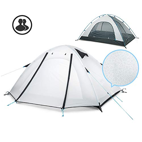 Tents Camping, Outdoor 1-2 Person Fully Automatic Speed-open, Family Aluminum Pole Double Layer Waterproof For Hiking Tourism 0630 (Size : White)