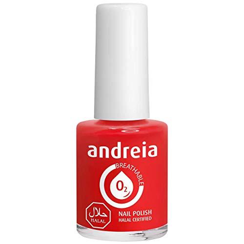 Andreia Halal Atmungsaktiver Nagellack - Wasserdurchlässig - B15 Rot - Schattierungen von Pink   10.5 ml