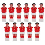 PYMQSM 11 Piezas de Jugador de fútbol, Juegos de fútbol, muñeca de plástico humanoide, muñeca de máquina de fútbol de Mesa