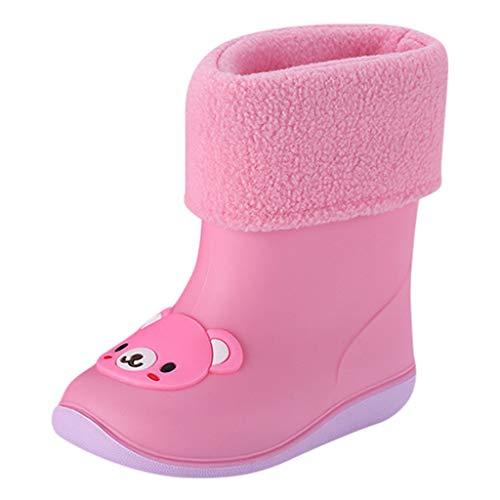 Riou Botas de Agua Unisex Niños Animal de Dibujos Animados Botas de Lluvia Zapatos Casuales Antideslizante Bebe Chicos Chicas Zapatos Calzado