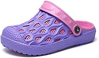 WZXSMDY Men's Hole Shoes Students Beach Shoes Drag Thick Bottom Couple Non-Slip Casual Baotou Sandals Men (Color : Purple, Size : 36EU)