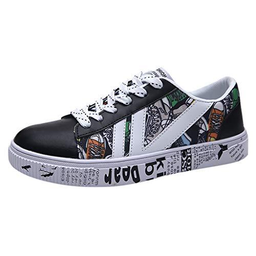 Holeider Sneaker Herren Laufschuhe Sportschuhe Atmungsaktiv Gemütlich Mode Freizeitschuhe Schnürschuhe Low-Top Schuhe 3 Farbe 39-44,