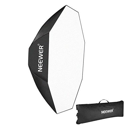 Neewer Octagon Softbox mit Bowens-Halterung, Speedring und Tasche für Speedlite Studioblitz, Monolight, Portrait- und Produktfotografie, 60 cm