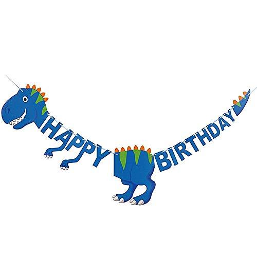 DC CLOUD Banderines Fiesta Feliz Cumpleaños Dinosaurios Cumpleaños Dinosaurio Papel Cadena Guirnalda Guirnalda Animal Decoraciones Accesorios para el hogar