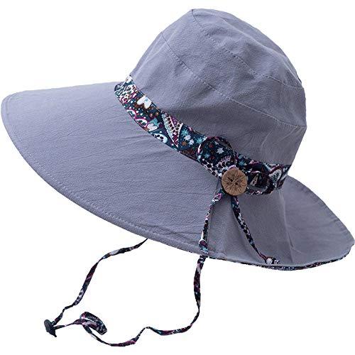 zlzty Vrouwelijke outdoor dubbelzijdige opvouwbare visser hoed, zonnehoed, wastafel cap UV-bescherming UPF 50+