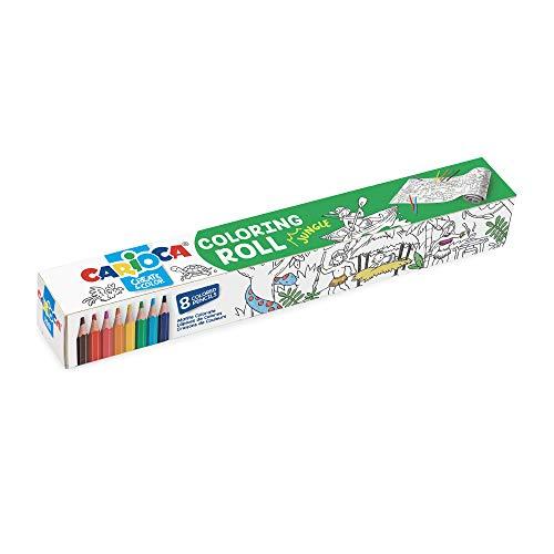 Carioca Coloring Roll + 8 Matite Jungle (42978)