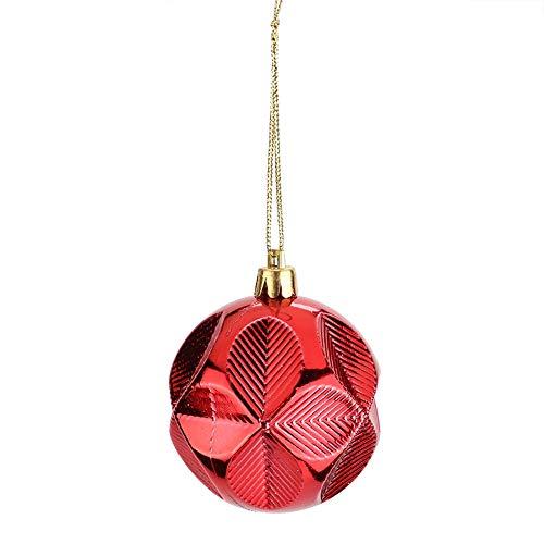 Gugxiom Palle di Natale, Decorazioni per Alberi Accessori per Appendere Pendenti Decorazioni da Appendere Classiche di Colore Rosso Palline da Esterno per Centro Commerciale