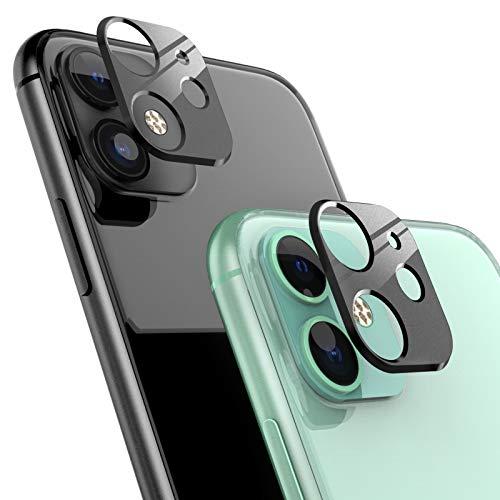 Ossky Protector de Lente de cámara para iPhone 11,Cámara Trasera Lente Protector Anti-Rasguños/Anti-Polvo[Compatible para Funda] Protector Cámara Trasera Case para iPhone 11-Negro/2 Pack ⭐