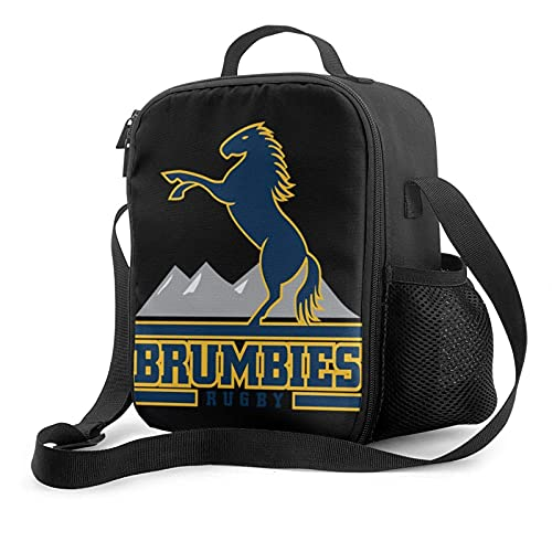 Isolierte Lunch-Tasche Brumbies Rugby Lightweight Sweat Tragbare Wärmeisolierung Kalte Lunch-Tasche Picknick Office School