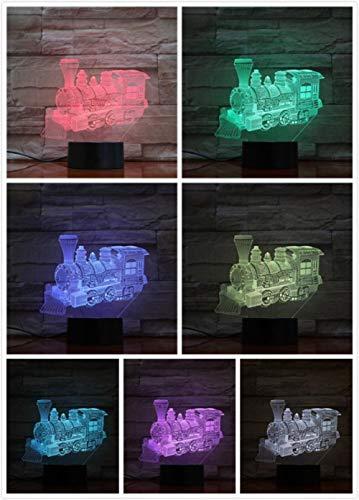 Nachtlampje Europese Steam Train-touch Klein Nachtlampje 7 Kleuren Touch Optische Foto Tafel Decoratie Lamp, Geschikt Voor Slaapkamer Bar Sfeerlamp