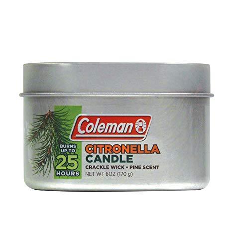 Coleman Vela aromática de citronela con Mecha de Madera Agrietada