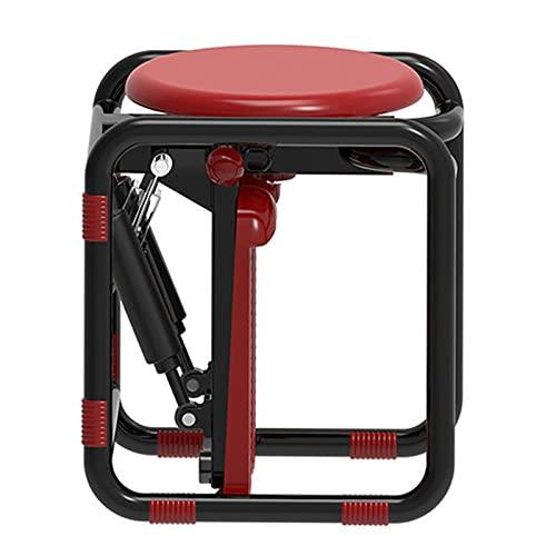 NASTON Macchina ellittica Mini Stepper Multifunzionale, Attrezzatura per Il Fitness per Esercizi Idraulici Domestici,Rosso,36 * 33 * 44CM