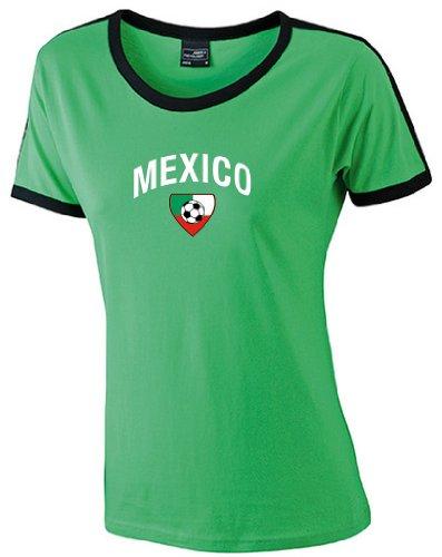world-of-shirt Mexico Damen T-Shirt Team Flag Retro Trikot|M