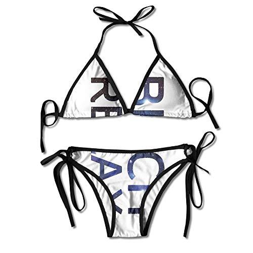 dingjiakemao Galaxy Bitch Relax Bikini Damen Sommer Bademode Triangel Top Bikinis Badeanzug Sexy 2-Teiliges Set