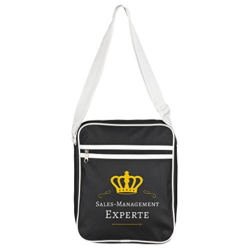 Schoudertas Sales-Management Expert zwart - Grappig Grappig Spreuken Party Bag