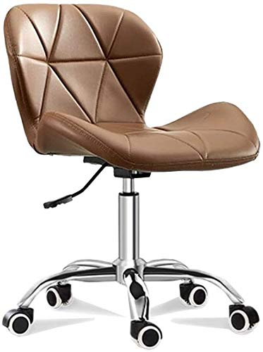 WYL Executive Recline Chairs Adjustable Home, Office Swivel PU Leather Dining Computer Desk Chrome Nylon Legs Chair Office Chair (Color : Brown)