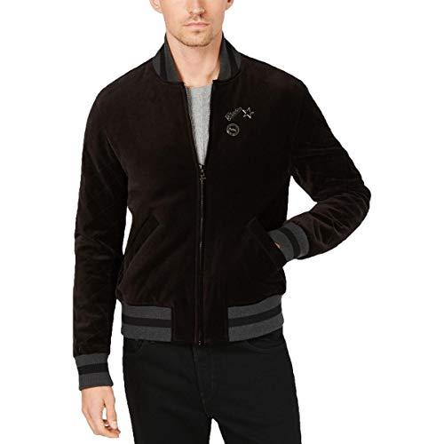 Michael Kors Mens Fall Velvet Bomber Jacket Black L