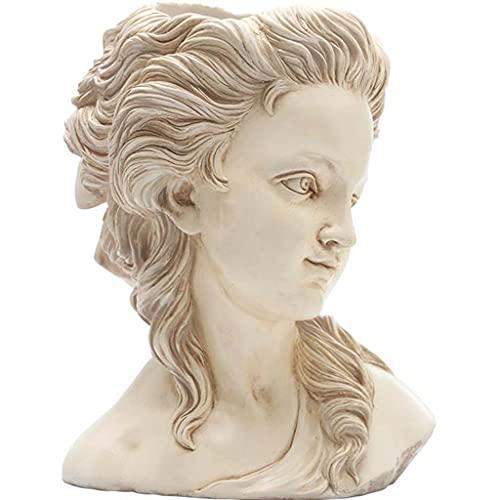 Escultura De Estatua De Retrato De Decoración De Jardín, Maceta De Busto De Figura De Resina Creativa, Adornos De Decoración De Balcón De Jardín Personalizados H23CM