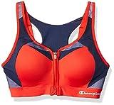 Champion Women's Motion Control Zip Sports Bra, Red...