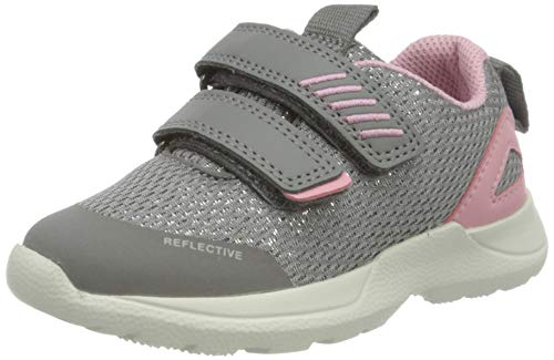 Superfit Baby Mädchen Rush Sneaker, Grau (Hellgrau/Rosa 26), 28 EU