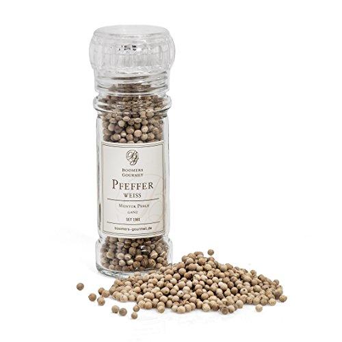 Boomers Gourmet - Pfeffer weiß, ganz, Muntok Perle - Gewürzmühle - 60 g