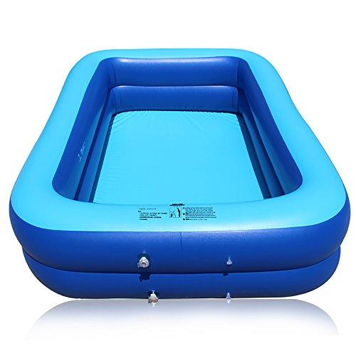 lyy Piscine carrée adulte plus épaisse de piscine gonflable (peut accueillir 5 personnes, appropriées à la maison) ( Couleur : Trois couches , taille : 200cm )