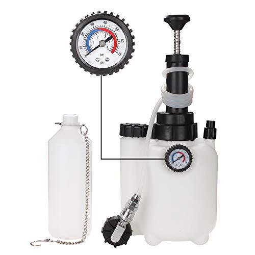 Hengda Bremsenentlüfter Bremsenentlüftungsgerät 3l Fassungsvermögen mit Auffangflasche Für Bremsflüssigkeit Druckluft Bremsflüssigkeit Wechseln