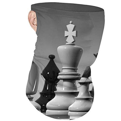 Diadema Face Ma-sk con bucle para la oreja Tablero de ajedrez mundial en blanco y negro A prueba de viento Bufanda de cobertura de media cara Bandana Headwear Balaclava