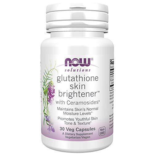 NOW Foods Glutathione Skin Brightener with Ceramosides, 30 Vcaps, 150 g