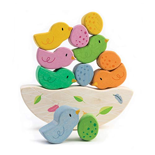 Rocking Baby Birds 12 Piece Balance Toy - STEM Toy - Early Learning to Develop Strategic Thinking and Fine Motor Skills - Wooden Toy Stack & Balance Educational Game