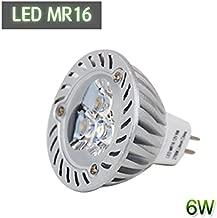 Lighton 6W(=30W) LED MR16 Halogen Lamp Spot Light 12V Bulb 2700K Warm White GU5.3 Reflector