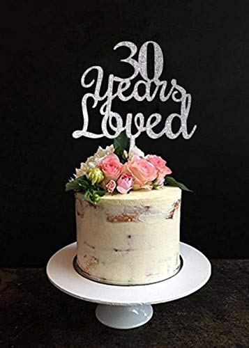 Bruiloft verjaardag taart Topper 30-90 jaar hield van hout, acryl taart Topper taart decoreren accessoire