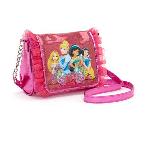 Disney Prinzessin - Kuriertasche - Motiv mit Vier Disney-Prinzessinnen Rapunzel, Cinderella, Prinzessin Jasmin und Schneewittchen