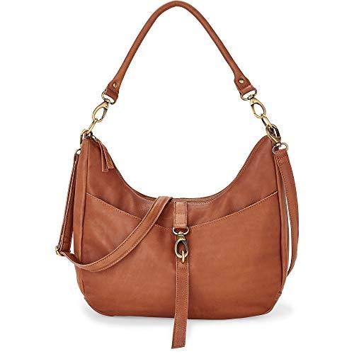 Cox Damen Halbmond-Tasche Braun Leder 0