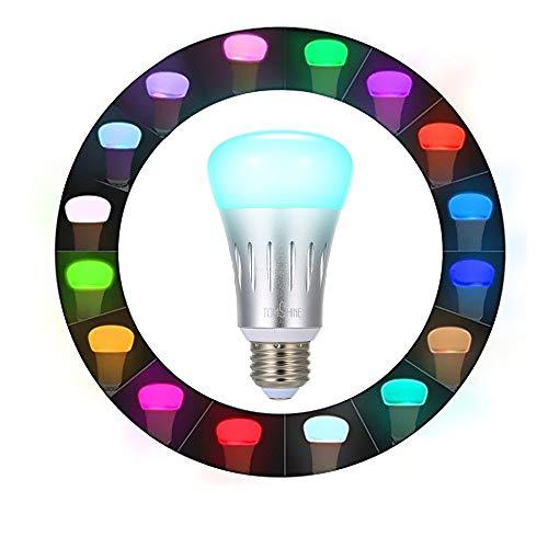 Tomshine Smart Alexa Lampe, Wifi E27 Smart Glühbirne, Google home Wifi Glühlampe mit 16 Millionen Farben,App Steuerbar für Android/ios,Helligkeit Dimmbar