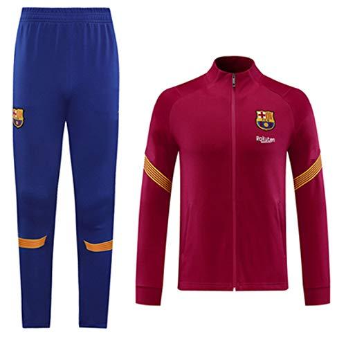 La Camiseta de la Chaqueta de Nueva Jersey de fútbol Bǎrcelona Larga de los Hombres chándales de la Manga Top + Pantalones de Entrenamiento Competencia Jersey ventil S