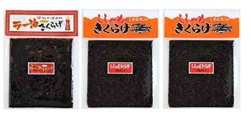 丸虎 きくらげ 佃煮 190g【ししゃもx2袋、ラー油x1袋セット】岡商店【メール便送料無料】