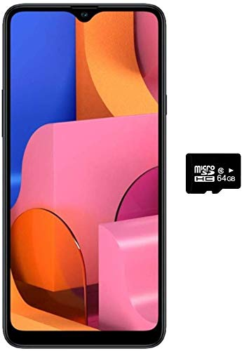 Samsung Galaxy A20S w/Triple Cameras (32GB, 3GB RAM) 6.5' Display, Snapdragon 450, 4000mAh Battery, US & Global 4G LTE GSM Unlocked A207M/DS - International Model (Blue, 32GB + 64GB SD Bundle)