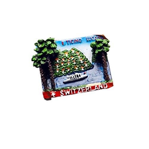 Bella Magneti per FrigoriferoCalamite da Frigo in Resina Viaggio Souvenir Svizzera Ticino Lugano Fridge Magnet Sticker