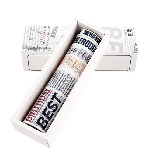 Lychii 6 PCS Washi Tape, Tape Decorativo Coprente per lavoretti di Fai da Te, diari, Biglietti, Schizzi (Set 4)