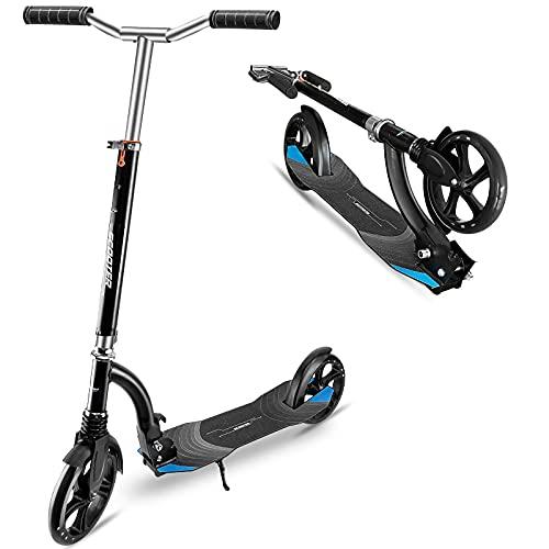 Patinete Freestyle Stunt Patinete resistente a las acrobacias y salts puentes de aluminio, doble sistema de absorción de choque