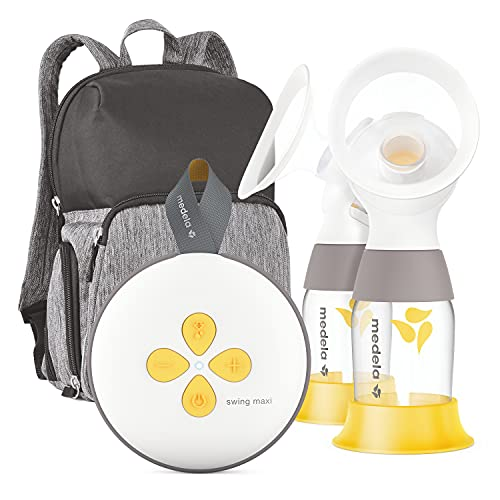 Medela Swing Maxi Double Electric Breast Pump, Portable Breast Pump, USB-C Rechargeable, Bluetooth, Closed System