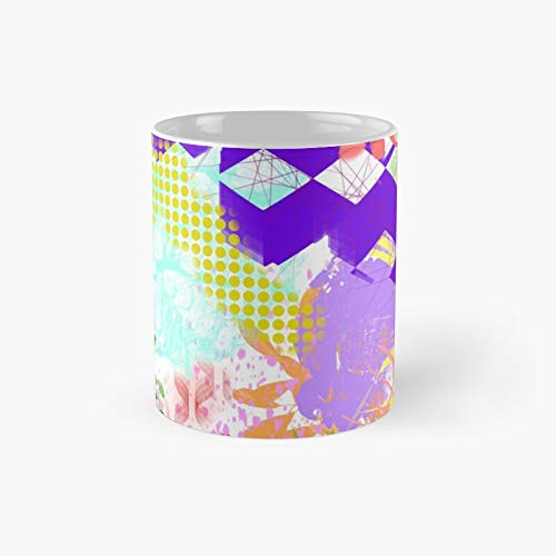 Abstract Mélange Classic Mug Best Gift Funny Coffee Mugs 11 Oz